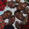 Masai men in a circle around me - Serengeti-5376