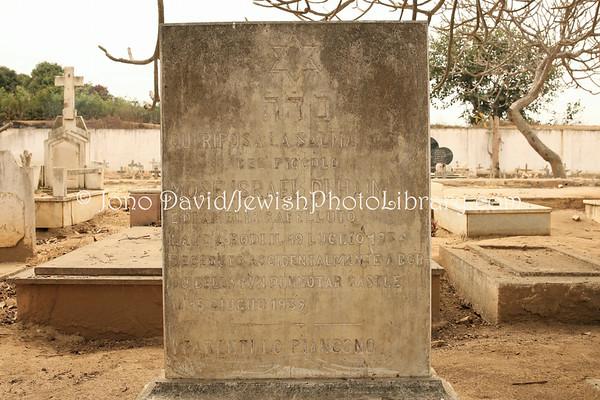 ANGOLA, Catumbela. Jewish grave, Old Catumbela Cemetery (8.2014)