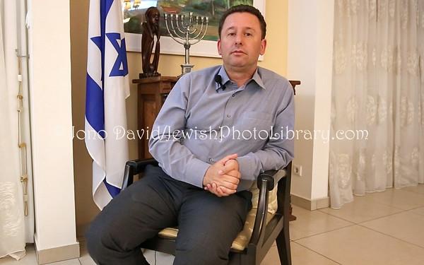 ANGOLA, Luanda.  Raphael Singer, Ambassador of Israel to Angola (Sao Tome & Principe and Mozambique) (8.2014)