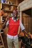 CM 128  Francis Joseph Mbarga Nguele, wood craftsman (in Yaounde)