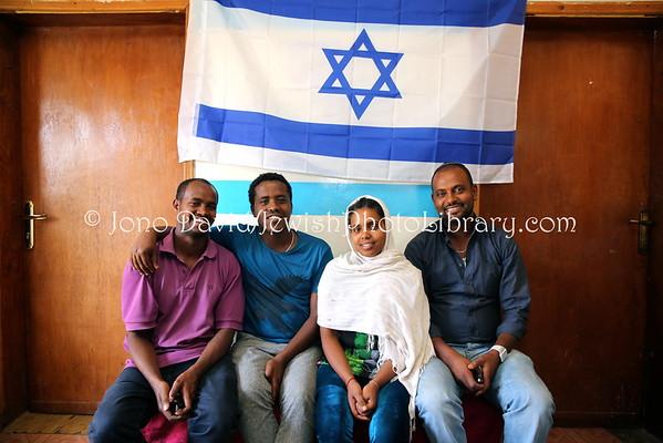 ETHIOPIA, Addis Ababa. Beta Selam Synagogue (Simien Shewa Beta Israel community, aka Bale Eje) (3.2015)