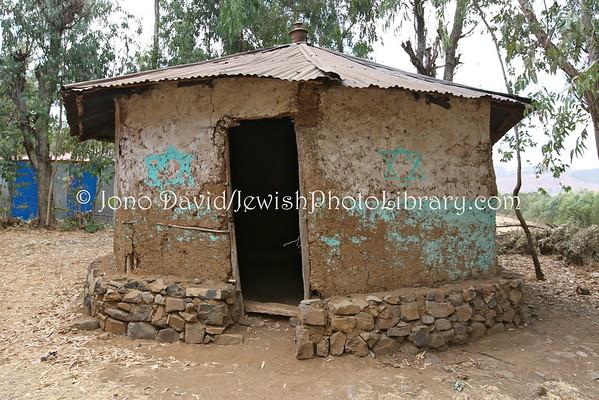 ETHIOPIA, Felasha Village (Gondar). Synagogue (3.2015)