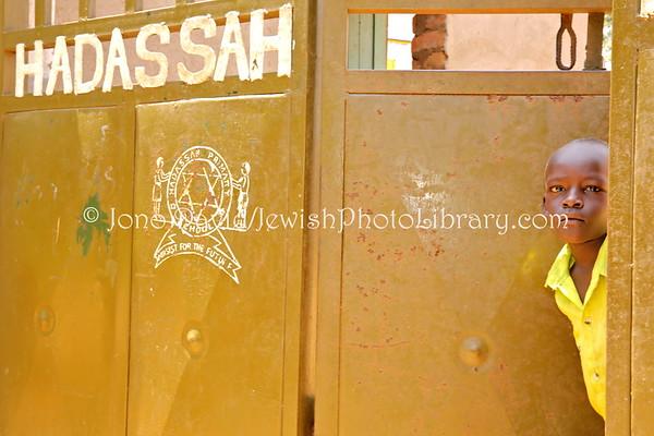 UGANDA, Mbale District, Namanyonyi Village. Hadassah Primary School. Abayudaya Jews. (8.2013)