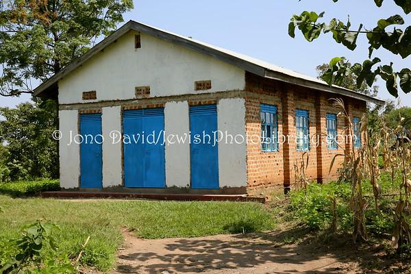 UGANDA, Mbale District, Namanyonyi Village. Namanyonyi Synagogue (2009, original built 1920). Abayudaya Jews. (8.2013)