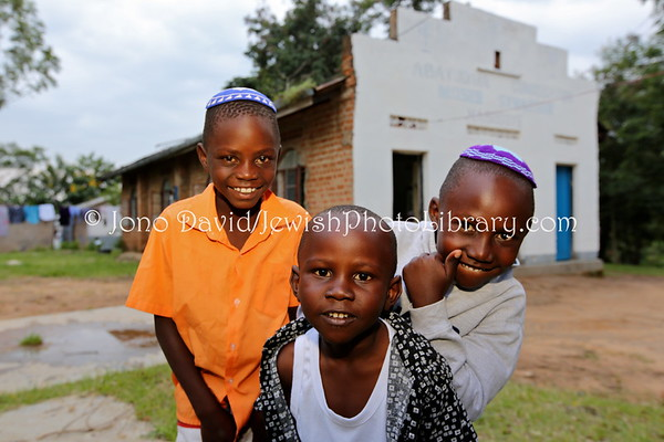 UGANDA, Mbale District, Nobugoye Village. Kabbalat Shabbat at Moses Synagogue. Abayudaya Jews. (8.2013)