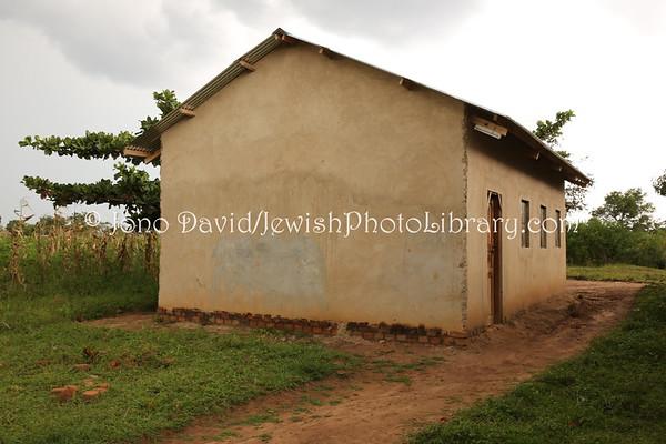 UGANDA, Pallisa District, Putti Village. Putti Synagogue (old, built 1920). Abayudaya Jews. (8.2013)