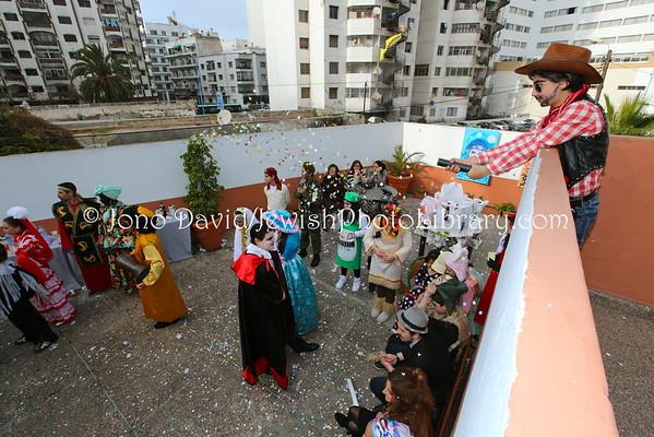 MOROCCO, Casablanca. Purim party, Neve Shalom School (3.2015)