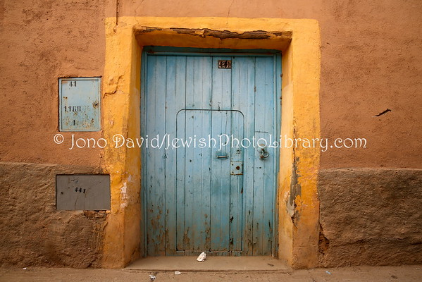 MOROCCO, Tiznit. Ouzzane, Mellah (former Jewish Quarter) (2.2015)