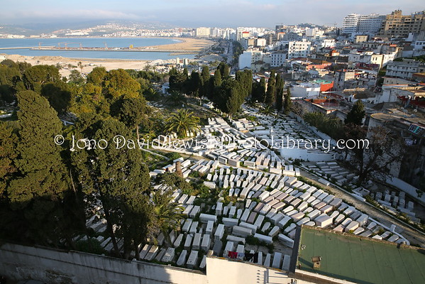 MOROCCO, Tangier. Old Jewish Cemetery (3.2015)