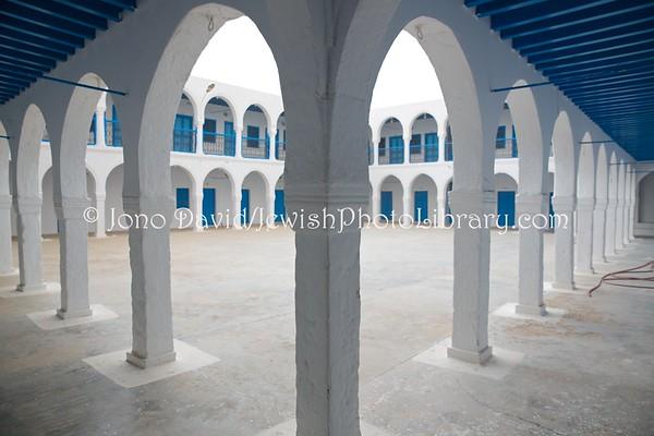TUNISIA, Djerba, Hara Sghira. Hiloula compound, Synagogue La Ghriba (3.2016)