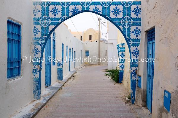 TUNISIA, Djerba, Hara Sghira. Jewish streets (3.2016)