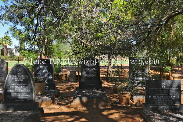NAMIBIA, Windhoek. New Jewish Cemetery (at Gammams Cemetery) (2.2013)