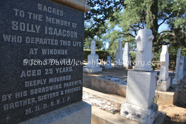 NAMIBIA, Windhoek. Old Jewish Cemetery #1 (at Gammams Cemetery) (2.2013)