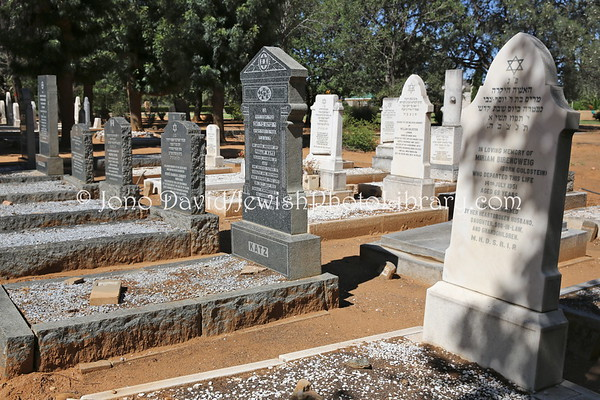 NAMIBIA, Windhoek. Old Jewish Cemetery #2 (at Gammams Cemetery) (2.2013)