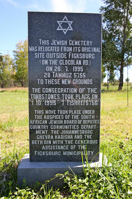 SOUTH AFRICA, Free State, Ficksburg. Jewish Cemetery (2.2014)