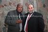 ZA 19385  Rabbi Moshe Silberhaft (R) and Prof  Jonathan Jansen, Vice-Chancellor and Rector, Freestate University