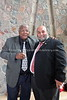 ZA 19384  Rabbi Moshe Silberhaft (R) and Prof  Jonathan Jansen, Vice-Chancellor and Rector, Freestate University