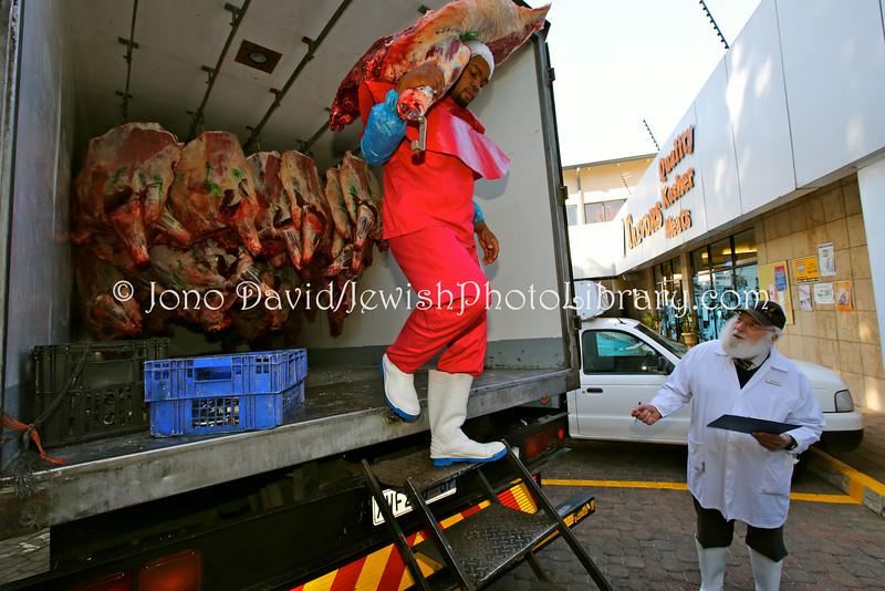 ZA 15680  Nachman Levy (mashgiach) (R), Trevor's Quality Kosher Meats  Johannesburg, South Africa