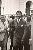 ZA 7758  Nelson Mandela at the Old Synagogue (1890~1952), Pretoria, sight of the Rivonia Trials 1962, in Jewish Memories of Mandela, by South Africa Jewish Board of Deputies (SAJBD)