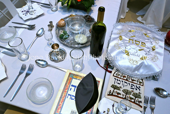 SOUTH AFRICA, Western Cape, Cape Town, Sea Point. Passover (Pesach) seder (2nd night) (at home of Werb family) (3.2013)