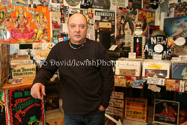 "SOUTH AFRICA, Western Cape, Cape Town. Stephen ""Sugar"" Segerman, who (re)discovered singer/songwriter Rodriguez, in his record shop Mabu Vinyul (9.2012)"