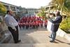 SZ 70  Rabbi Moshe Silberhaft (L) and Geoffrey Menachem Ramokgadi, school CEO, Swaziland Jewish Community president
