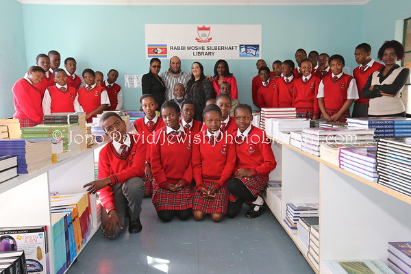 SWAZILAND (Kingdom of), Ezulwini, Goje Township (Mbabane). Opening of the Rabbi Moshe Silberhaft Library at Kobe-Ramokgadi Advanced Learning Academy (Thursday, August 15, 2013) (8.2013)