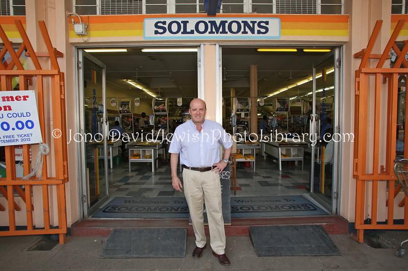 ZW 423  Hylton Solomon, owner, Solomons supermarket