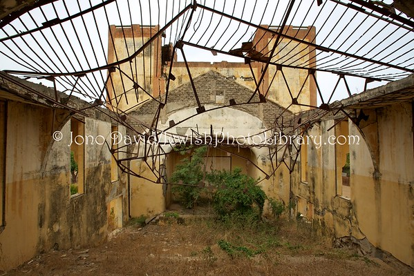 SENEGAL, Sebikotane. Ruins of WWII French Vichy forced labor internment camp (unconfirmed, building 1) (3.2016)