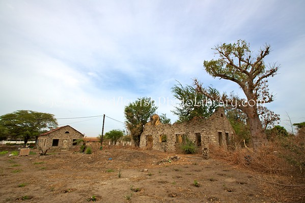 SENEGAL, Sebikotane. Ruins of WWII French Vichy forced labor internment camp (unconfirmed, building 3) (3.2016)
