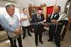 BW 148  Hachnasat Sefer Torah celebration, with Richard Lyons (reading) and Rabbi Moshe Silberhaft (R)  Gaborone, Botswana