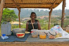 CM 122  Marie Theresa at her food stall  Saa, Cameroon