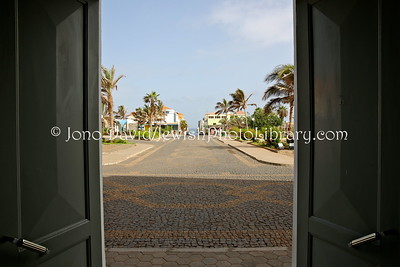 CV 402  View of Rua Direita, the busiest Jewish street, from doors of Town Hall  Ponta do Sol, Santo Antao, Cape Verde
