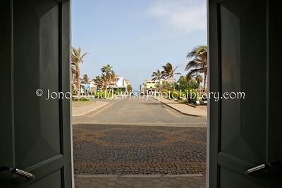 CV 402  View of Rua Direita, the busiest Jewish street, from doors of Town Hall  Ponta do Sol, Santo Antao, Cape Verde