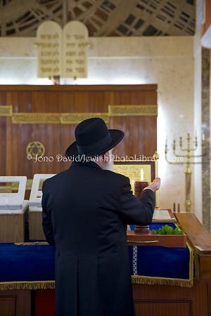 ES 1272  Ma'ariv (evening) service, Bet El Synagogue  Ceuta, Spain