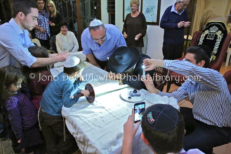 ZA 19117  Nathan family Hachnasat Sefer Torah  Johannesburg, South Africa
