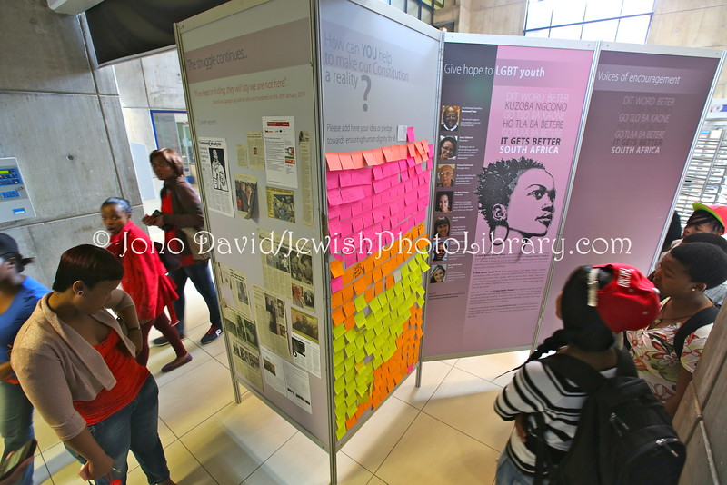 ZA 17541  In Whom Can I Still Trust, Nazi persecution of homosexuals exhibit, Vaal University of Technology  Vanderbijpark, South Africa