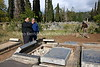 ZA 19571  Rabbi Moshe Silberhaft (The Traveling Rabbi) oversees the restoration of the Jewish cemetery  King William's Town, South Africa