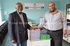 SZ 116  Rabbi Moshe Silberhaft (R) and Geoffrey Menachem Ramokgadi, CEO Kobe-Ramokgadi Advanced Learning Academy and president Swaziland Jewish Community  Goje Township, Kingdom of Swaziland