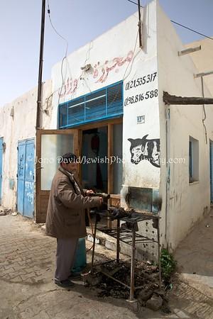 TN 875  Kosher butchery  Hara Kebira, Djerba, Tunisia