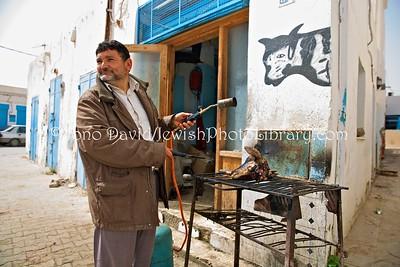 TN 869  Kosher butchery  Hara Kebira, Djerba, Tunisia