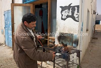 TN 878  Kosher butchery  Hara Kebira, Djerba, Tunisia