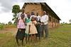 UG 363  Abayudaya Jews  Adults (L to R), Samson Shadrak, Isaac Biyaki, Joseph Mwanika, Samson Wamani  Nasenyi Synagogue  Budaka District, Uganda