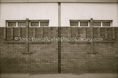 Outer wall, Bulawayo Hebrew Congregation, old synagogue  BULAWAYO, Zimbabwe