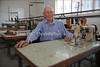 Alan Feigenbaum, at his shoe factory  BULAWAYO, Zimbabwe