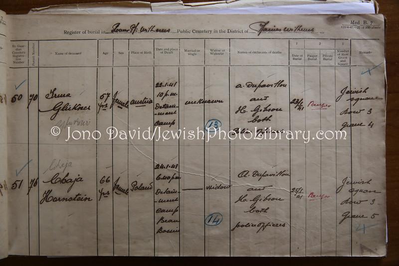 MU 385  Jewish Burial Register  St  Martins Jewish Cemetery, Mauritius
