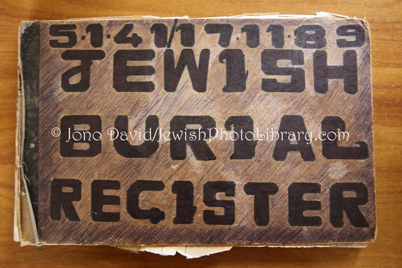MU 379  Jewish Burial Register  St  Martins Jewish Cemetery, Mauritius