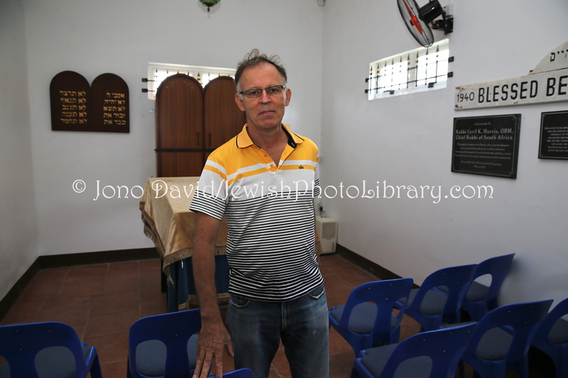 MU 48  Owen Griffiths, President, Island Hebrew Congregation Mauritius, at A M I  Baby S  Curpen Cultural Center, Forest Side, Mauritius