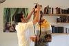 MU 365  Rabbi Laima Barber and Owen Griffiths, President, Island Hebrew Congregation Mauritius, doing tefillin