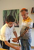 MU 360  Rabbi Laima Barber and Owen Griffiths, President, Island Hebrew Congregation Mauritius, doing tefillin